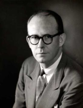 Willard F. Libby, professor of Chemistry in the department of Chemistry and Institute for Nuclear Studies (Enrico Fermi Institute) at the University of Chicago, and recipient of the 1960 Nobel Prize in Chemistry. Credit: University of Chicago Photographic Archive, apf1-03867, Special Collections Research Center, University of Chicago Library.